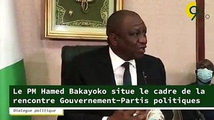 Elecion présidentielle 2020 - Le premier ministre Hamed Bakayoko situe le cadre de la rencontre gouvernement -partis politique