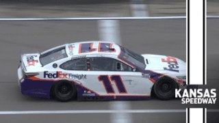 Hamlin has trouble, hits wall in Final Stage at Kansas