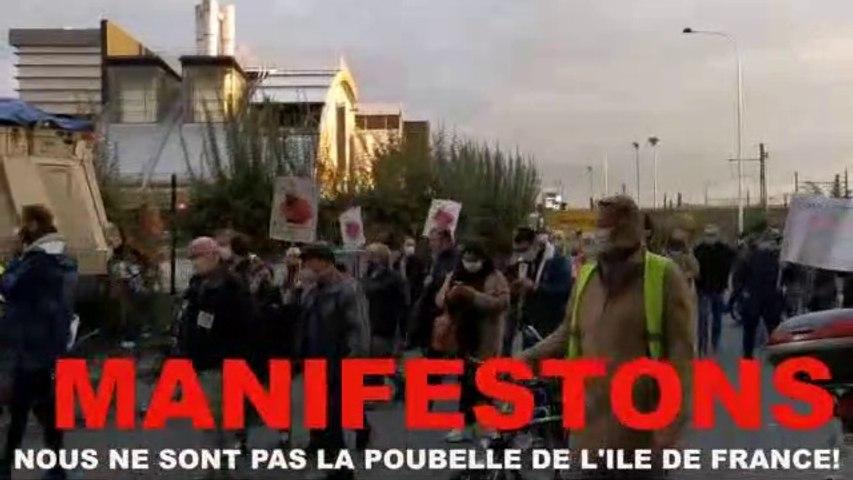 Contre le troisième four de l'incinérateur de Créteil le 15/10/2020