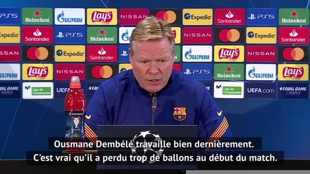 Barcelone - Koeman positif envers Griezmann et Dembélé