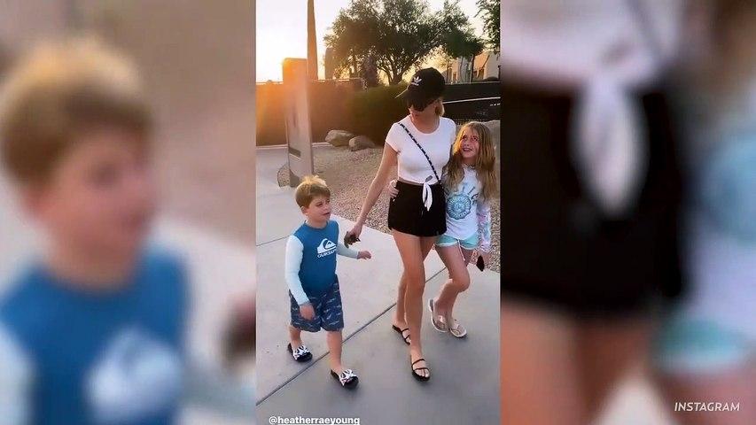 Tarek El Moussa Shares Sweet Video Of Daughter Taylor Hugging Fiancée Heather Rae Young