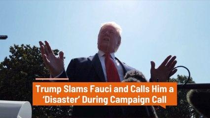 Trump Has Bad Feelings For Dr. Fauci