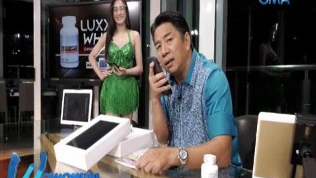Wowowin: Bibong caller, paulit-ulit na kinanta ang Luxxe White song!
