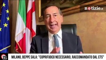 """Milano, scatta il coprifuoco: il sindaco Sala: """"Decisione presa dopo confronto CTS"""""""