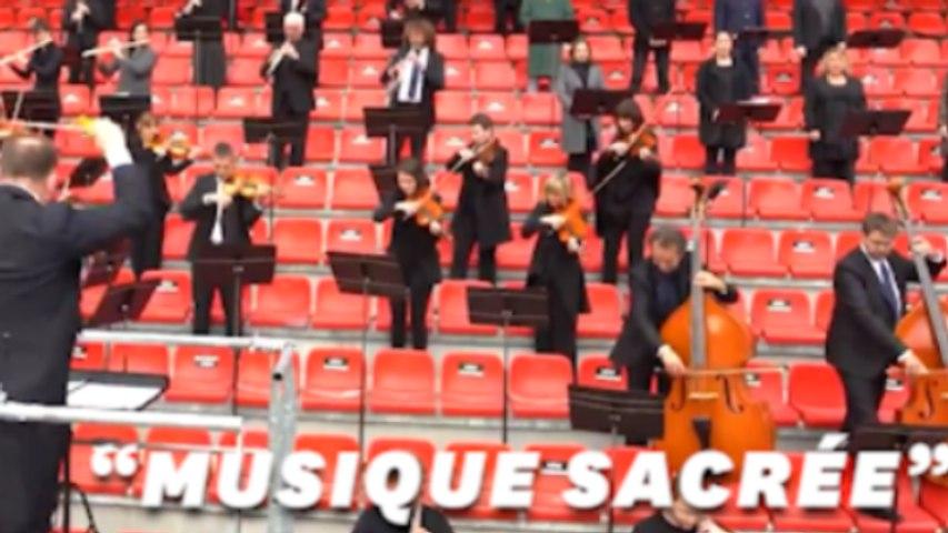 Pour Rennes-Krasnodar, l'Orchestre de Bretagne reprend l'hymne de la Ligue des Champions