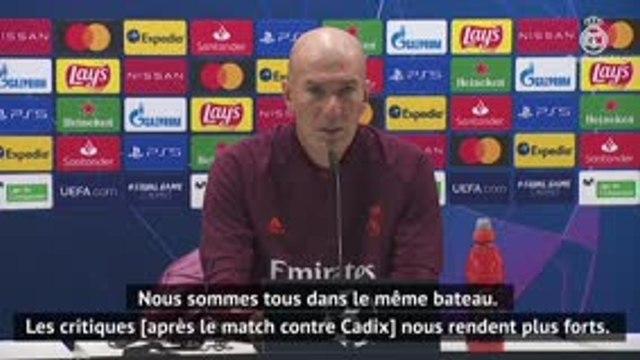 """Groupe B - Zidane : """"Nous méritons les critiques après le match contre Cadix"""""""