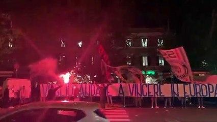 Lazio - Borussia Dortmund: i tifosi a Ponte Milvio