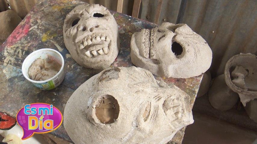 ¡Así se elaboran las máscaras de los Agüizotes en Masaya!