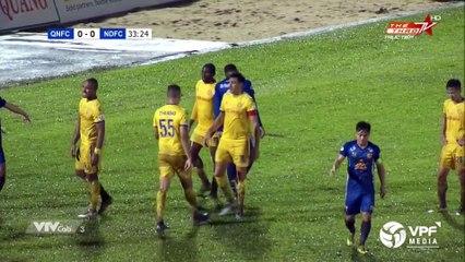 Highlights | Quảng Nam FC - DNH Nam Định | Chủ nhà sống lại hy vọng trụ hạng | VPF Media