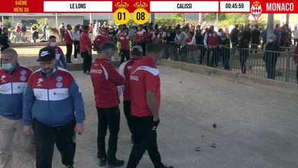 64ème LE LONS vs CALISSI International à pétanque de Monaco - Octobre 2020
