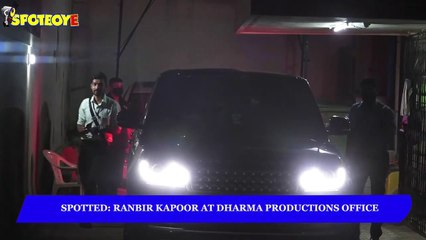 Ranbir Kapoor Spotted at Dharma Productions | SpotboyE