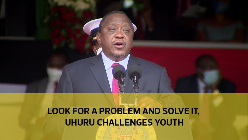 Look for a problem and solve it, Uhuru challenges youth-