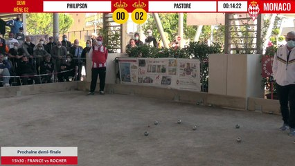Demi-finale disputée PHILIPSON vs PASTORE International à pétanque de Monaco - Octobre 2020