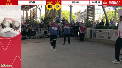 Demi-finale ROCHER vs RENAUD International à pétanque de Monaco - Octobre 2020