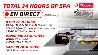 LIVE - TOTAL 24 HOURS OF SPA 2020 - FRENCH
