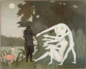 """CONTEMPLER : Méditation guidée à partir de l'œuvre """"La rencontre du 2 bis rue Perrel"""" (1946) de Victor Brauner   Musée d'Art Moderne de Paris"""