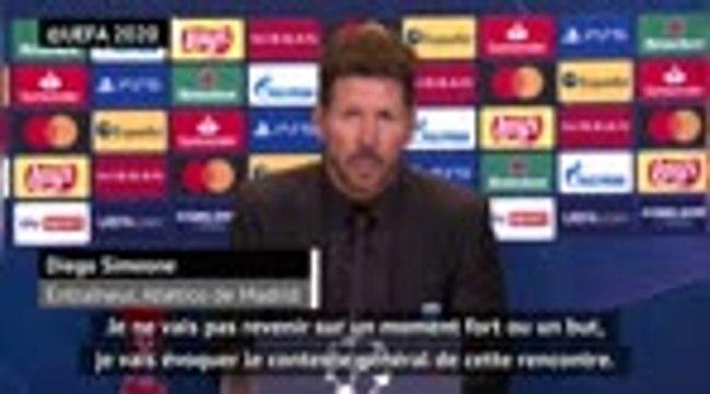 """Groupe A - Simeone : """"Le Bayern a été efficace devant le but"""""""
