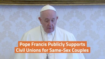 Pope Francis Speaks On Same Sex Marriage