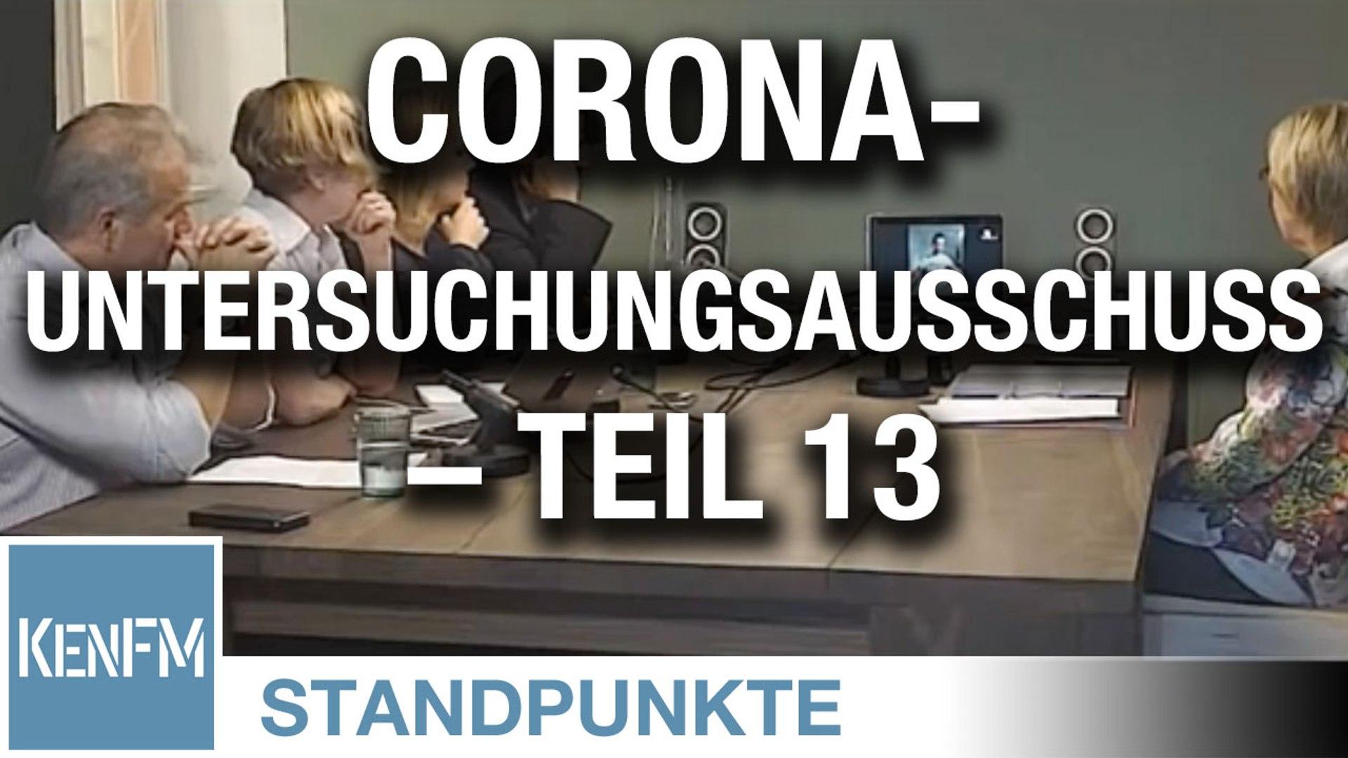 Corona-Untersuchungsausschuss – Teil 13 | Von Jochen Mitschka