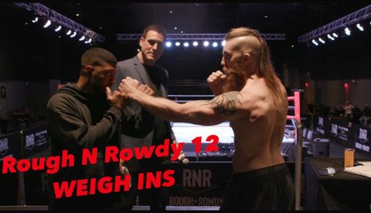 RnR 12 WEIGH IN Featuring Midget Fights, RED vs BLUE Rivalries, Undefeated Champions... FULL FIGHT CARD ALSO RELEASED