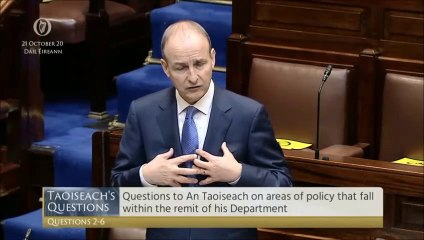 Taoiseach Micheál Martin says Derry restrictions were 'pragmatic' response to his approach to Arlene Foster and Michelle O'Neill