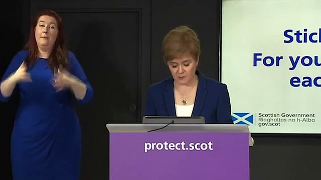 Video- Nicola Sturgeon announces extension of restrictions in Scotland - Daily Mail Online