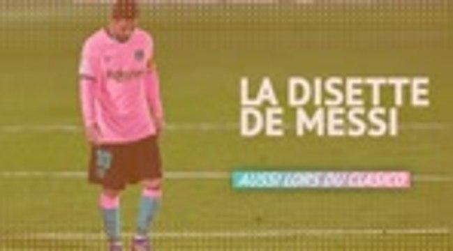 Clasico - La disette de Messi en chiffres