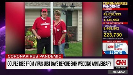 Couple dies from virus just days before 60th wedding anniversary