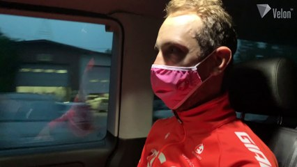Josef Cerny reacts to Giro d'Italia stage win