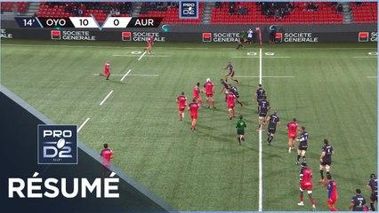 PRO D2 - Résumé Oyonnax Rugby-Stade Aurillacois: 46-17 - J7 - Saison 2020/2021