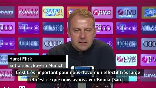 """5e j. - Flick : """"C'est important d'avoir un joueur comme Bouna Sarr au sein de notre effectif"""""""