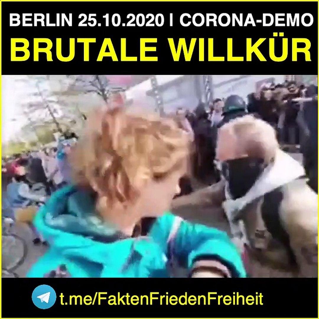 Berlin: Brutale Polizeiwillkür bei Corona- Demo