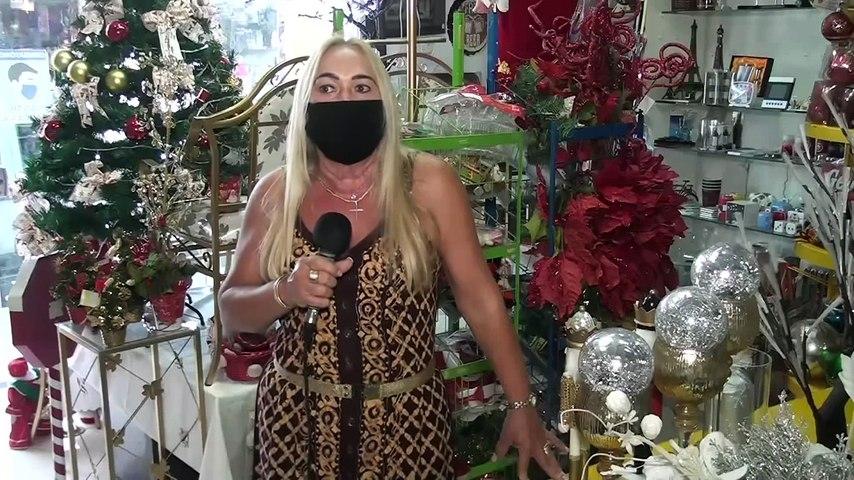 Artigos natalinos nas vitrines trazem otimismo para os comerciantes de Iguatu