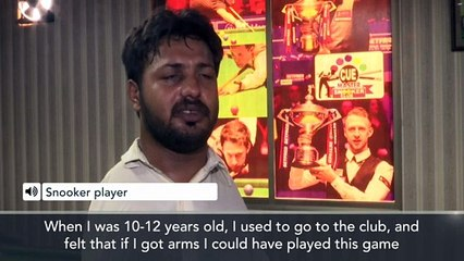 Pakistan's armless snooker sensation dazzles with cue on his chin