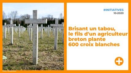 Brisant un tabou, le fils d'un agriculteur breton plante 600 croix blanches