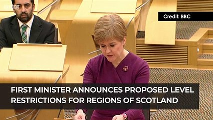 First Minister announces proposed level restriction for regions of Scotland