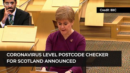 COVID-19 Levels postcode checker for scotland is coming soon