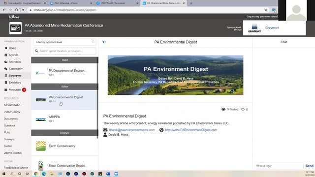 Navigating in the Whova Virtual Conference Web Application