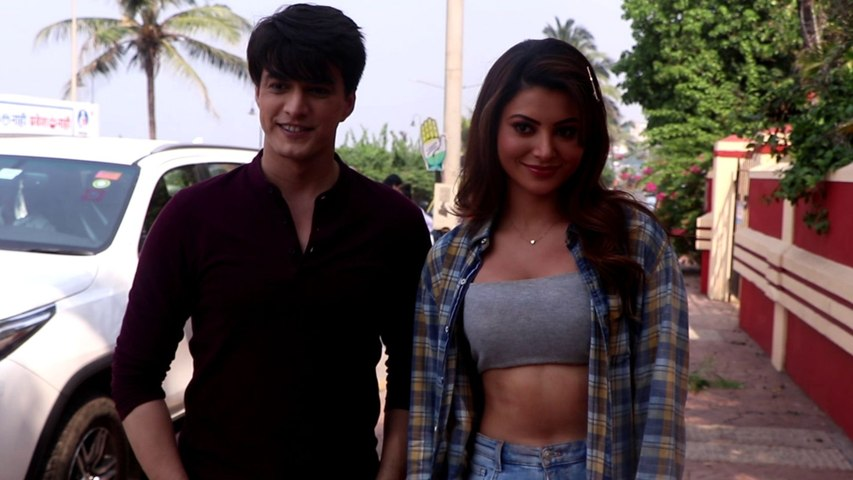 Urvashi Rautela and Mohsin Khan spotted on location in Bandra |FilmiBeat