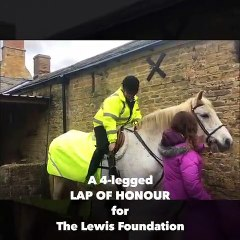 Sheila and pip take on the Lewis Foundation lap of honour
