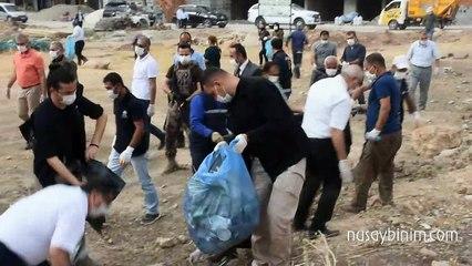 Nusaybin'de çöp toplama seferberliği düzenlendi