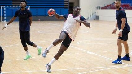 Pas de match, mais du handball