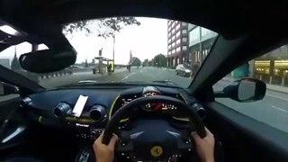 Il se rate avec sa Ferrari 812 après une accélération non maitrisée !