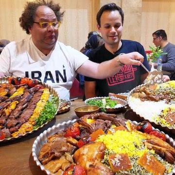 EXTREME Iran Street Food Tour in Tehran, Iran! 500 KG LAMB PLATE + 7 INSANE Street Food in Iran!
