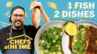 Pro Chef Makes 2 Seafood Dishes with 1 Fish | Chefs at Home | Food & Wine