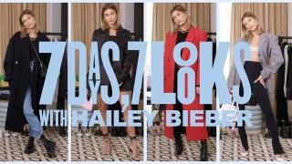 Hailey Bieber Walks Us Through Her Wardrobe for Vogue's New Show 7 Days, 7 Looks
