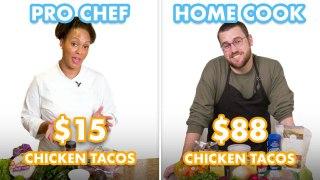88 vs 15 Tacos Pro Chef & Home Cook Swap Ingredie