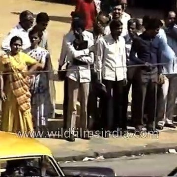 Bombay city from 1980's - archival footage of Mumbai