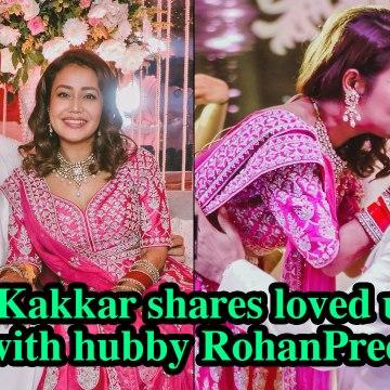 Neha Kakkar shares loved up pics with hubby Rohanpreet