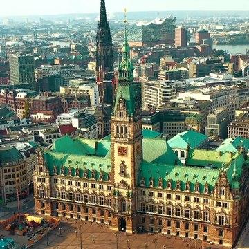 Hamburg, Germany  - by drone [4K]